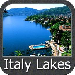 Italy Lakes charts - GPS fishing maps Navigator