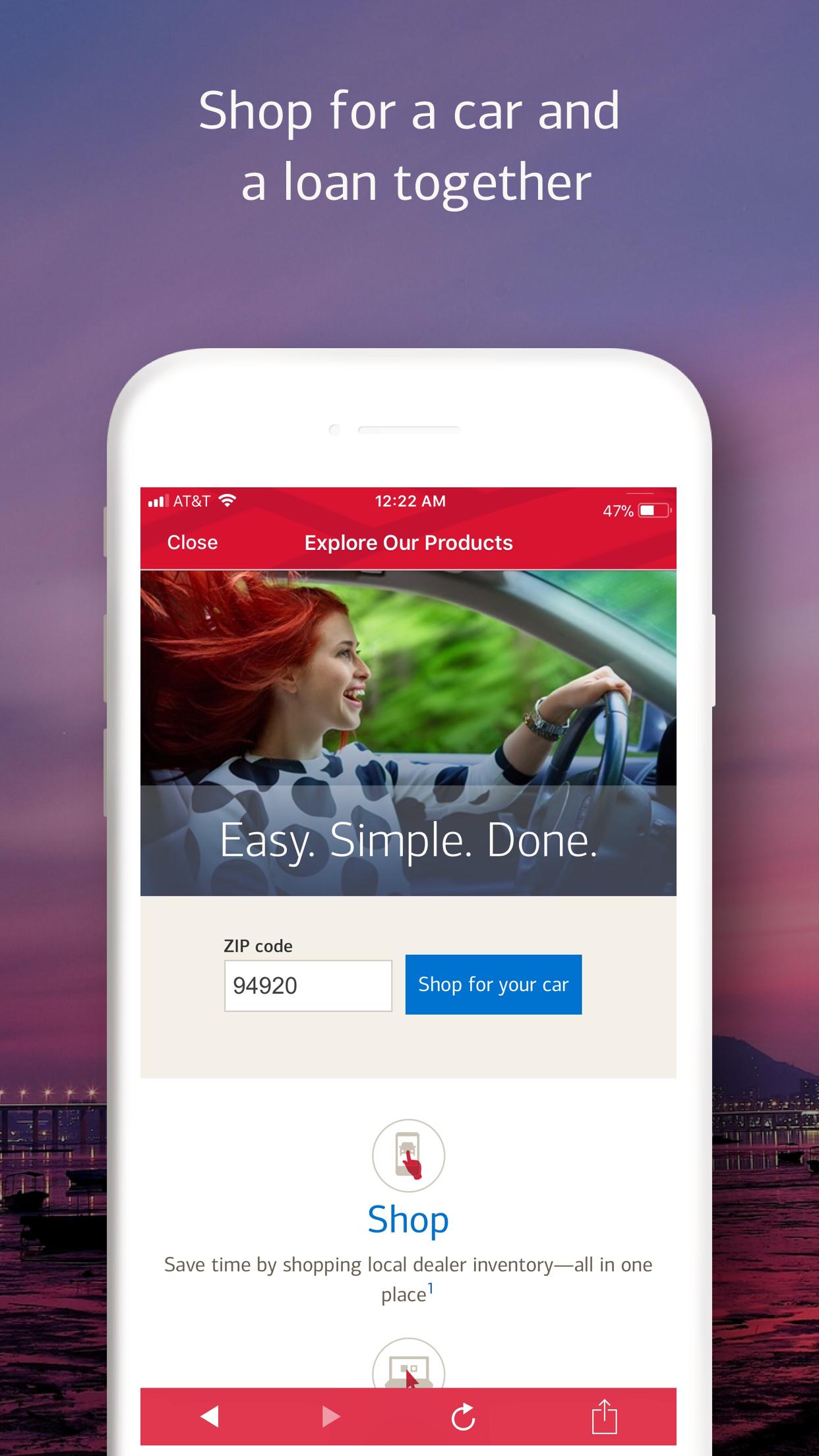 Bank of America Mobile Banking Screenshot