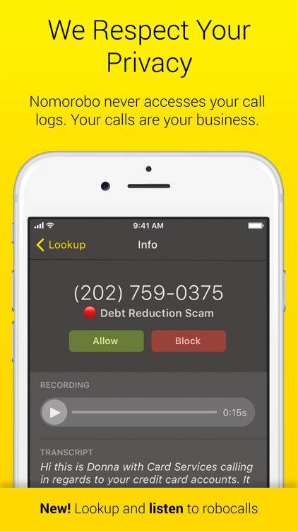 Nomorobo Robocall Blocking screenshot-4