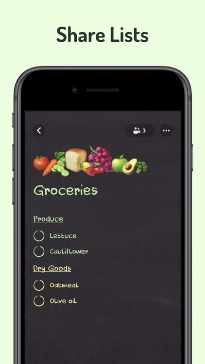 Kitchen Wall Shared Lists screenshot-0
