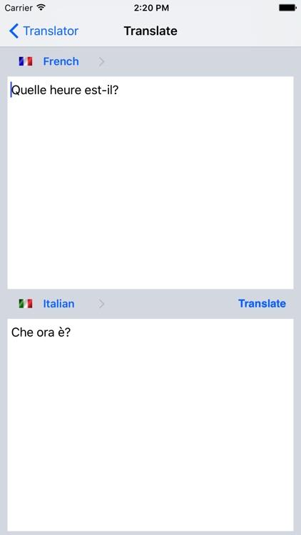 Offline Translator Fr-It