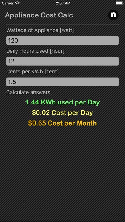 Appliance Cost Calculator screenshot-4