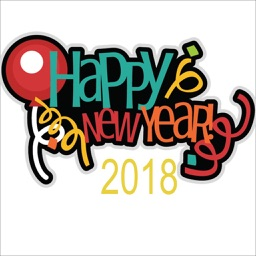Happy New Year 2018 Sticker