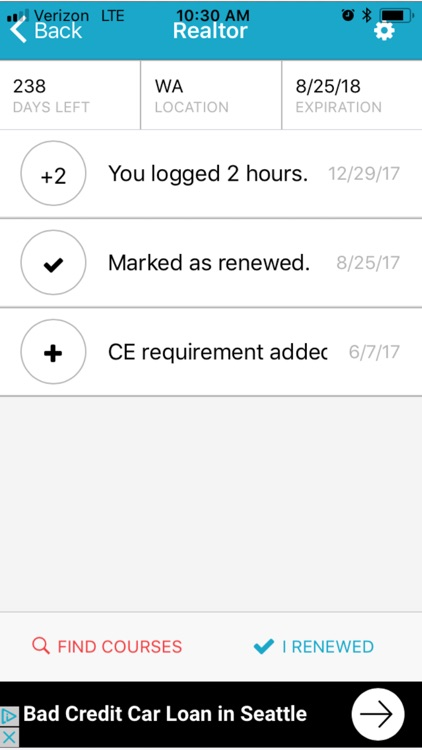 JoyCE - Continuing Ed Tracker