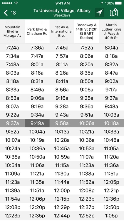 Schedules - AC Transit screenshot-2