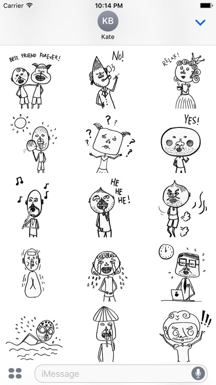 Hand Drawn Weird Human Sticker Pack for iMessage
