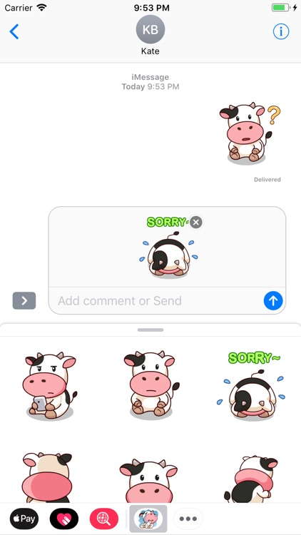 Happy Milk Cow Stickers Pack