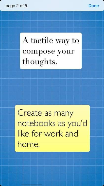 Sticky - simple notebooks