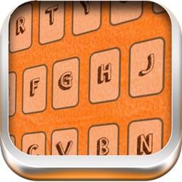 Orange Background Color Keyboard Themes