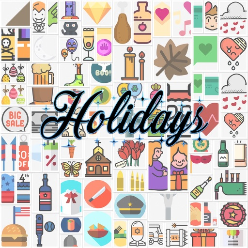 USA Holiday Stickers