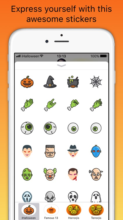iHalloween scary stickers screenshot-1