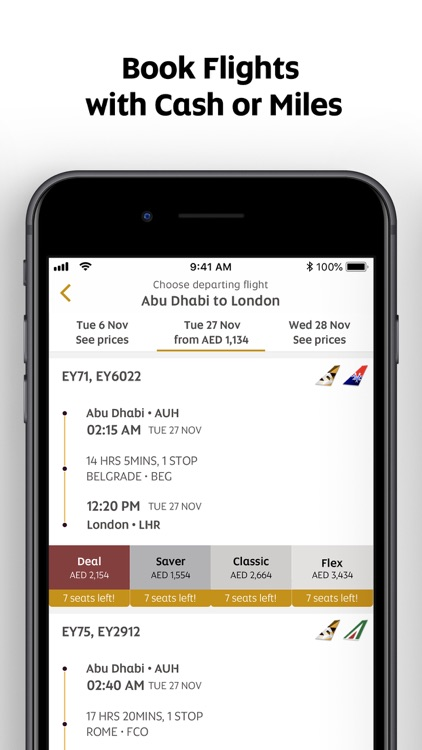 Etihad Airways screenshot-2