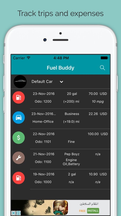 Fuel Buddy - Fuel, Mileage And Service Log Tracker