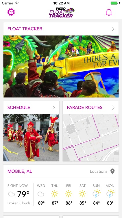Mardi Gras Parade Tracker WALA screenshot-0