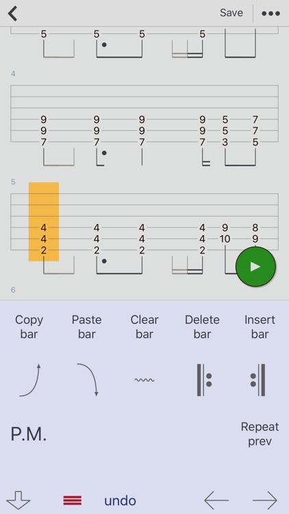 Guitar Tabs X - tabs editor screenshot-4