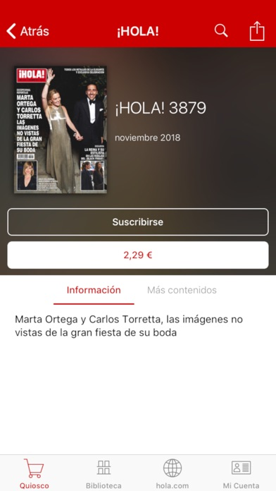 messages.download ¡HOLA! ESPAÑA Revista impresa software