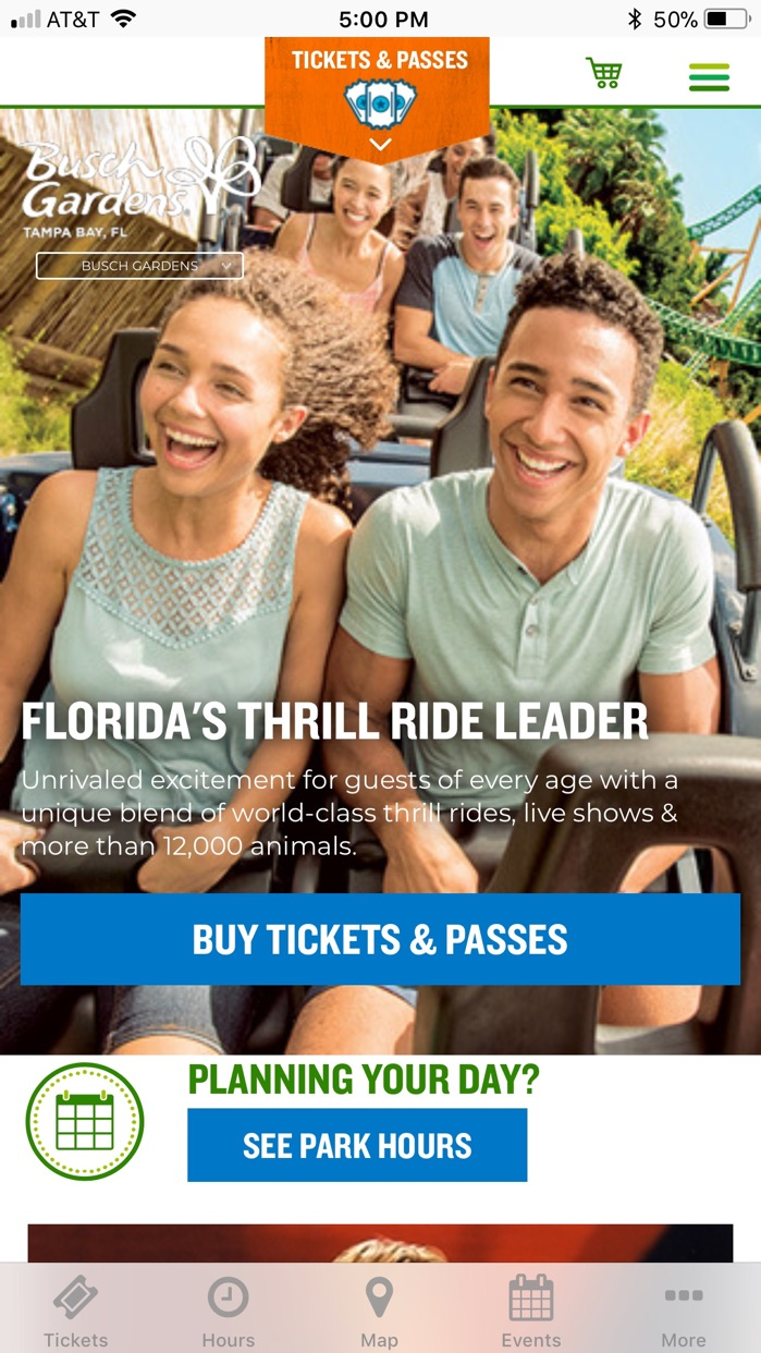 Busch Gardens Discovery Guide Screenshot