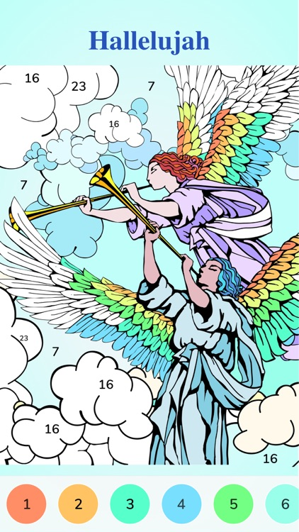 Bible Coloring-Color By Number screenshot-2