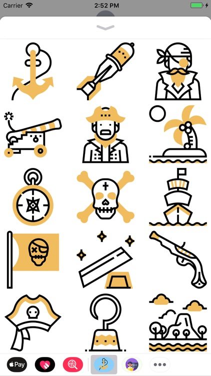 Pirate Of The Seas Stickers