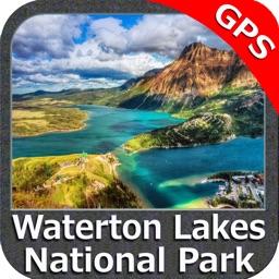 Waterton Lakes NP GPS charts Navigator