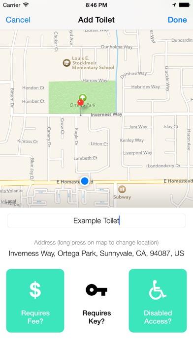 Flush toilet finder map app download android apk for Best bathroom finder app