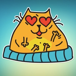 Fat Cat! Stickers