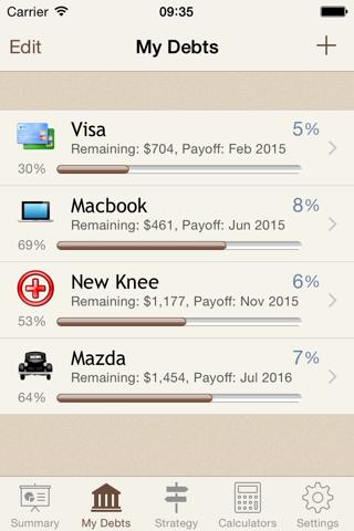 Debt Manager screenshot 2