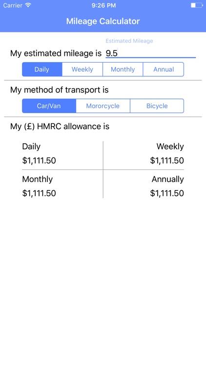 HMRC Mileage Calculator screenshot-3