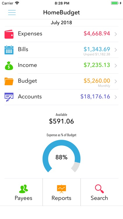 HomeBudget Lite (w/ Sync) screenshot-0