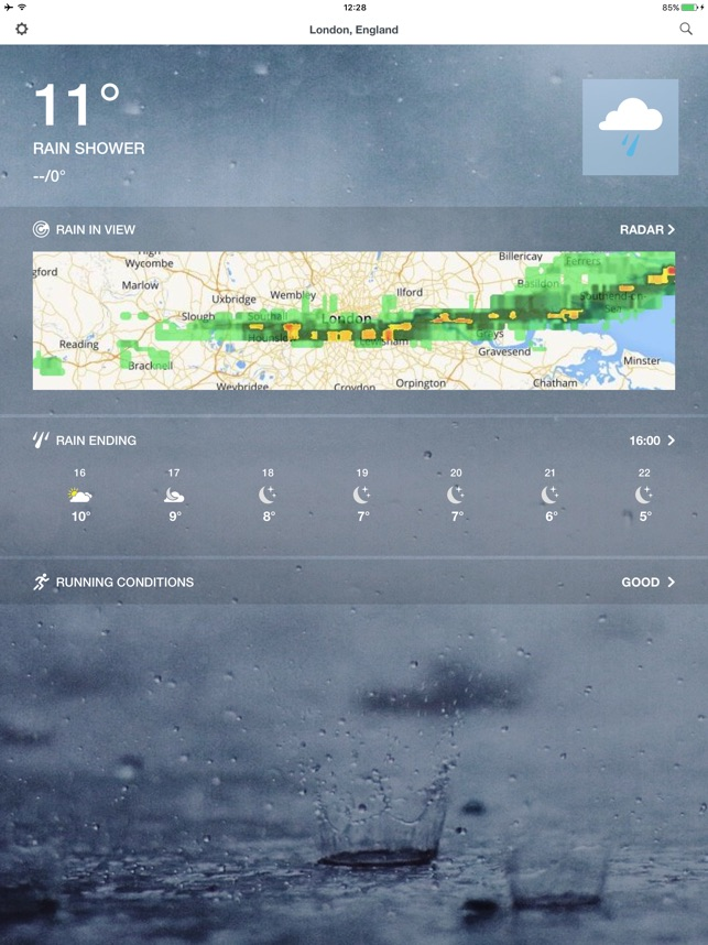 The Weather Channel Radar on the