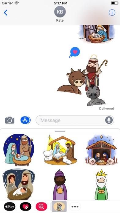 Cozy Nativity Scene Stickers-2