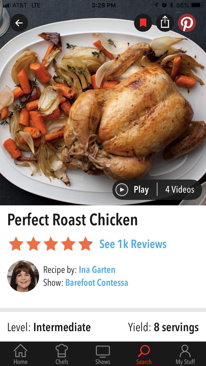 Food Network In the Kitchen Screenshot