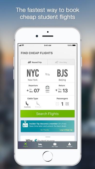 Flights by StudentUniverse Screenshot