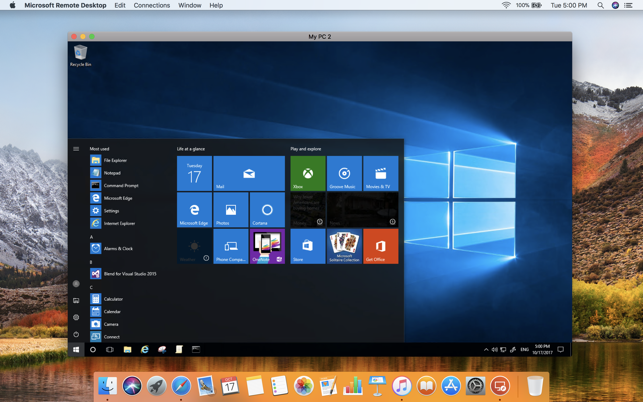 Microsoft Remote Desktop 10 on the Mac App Store