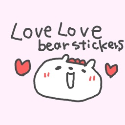 LOVELOVELOVE BEAR STICKERS!!