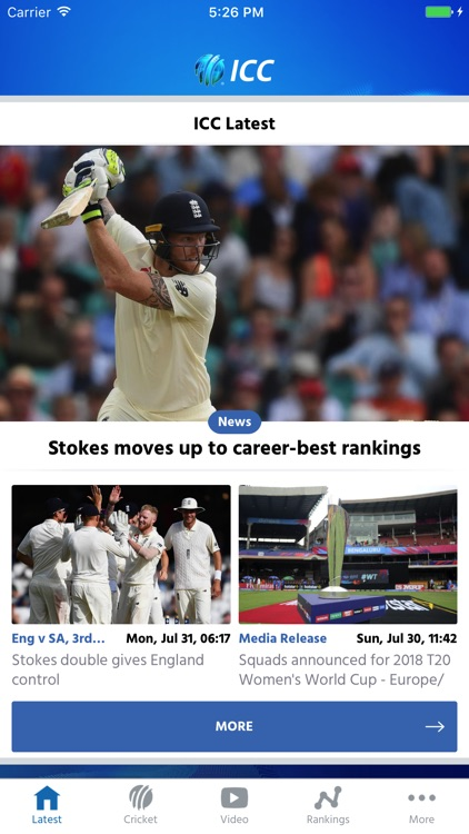 ICC Cricket screenshot-0