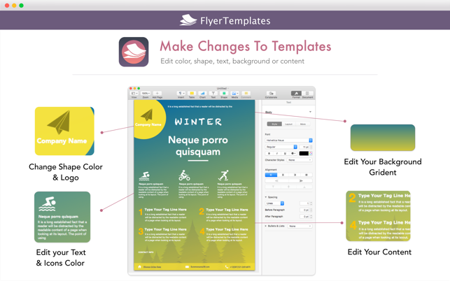 Flyer Templates Design By Ca On The Mac App Store