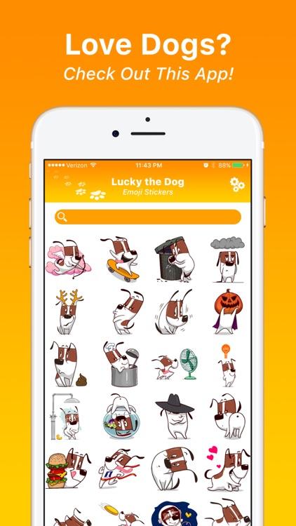 Lucky the Dog - Emoji Stickers
