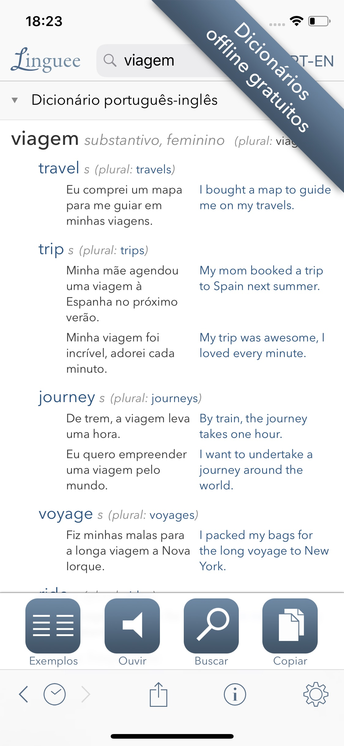 Screenshot do app Dicionário Linguee