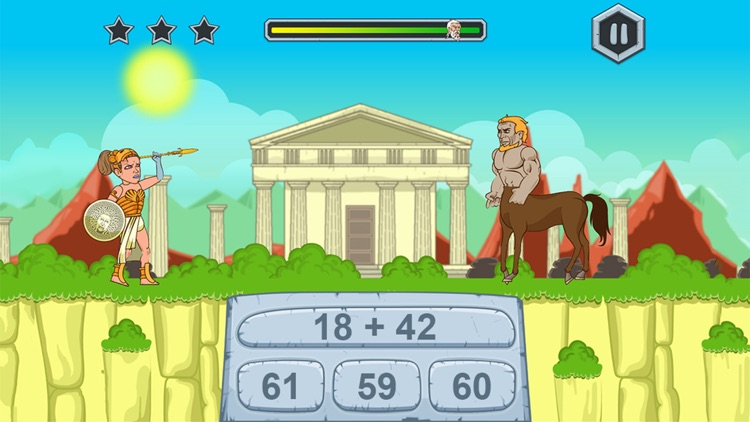 Zeus vs Monster: Fun Math Game