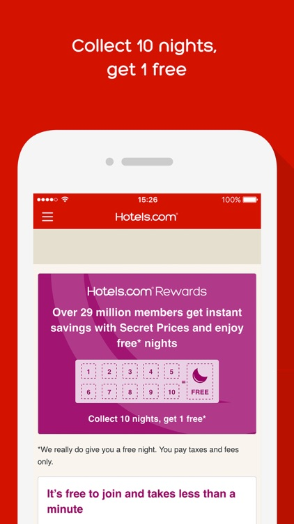 Hotels.com - Hotel booking