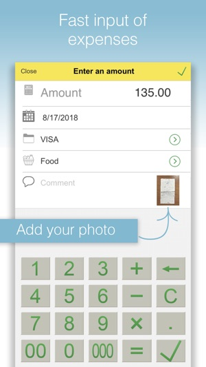 Expenses and Income Tracker Screenshot