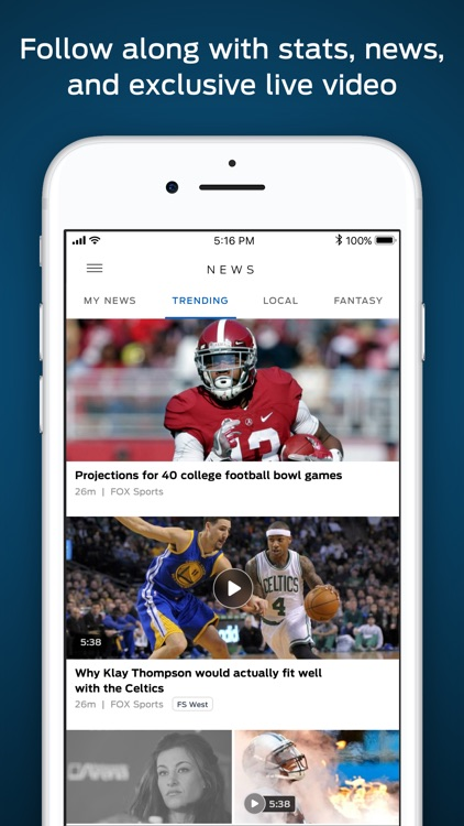 FOX Sports: Streaming & Scores screenshot-3