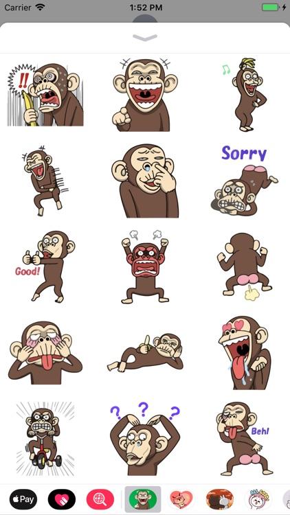 Penny the Naughty Monkey Emoji