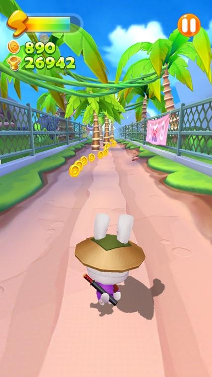 Run Ninja Rabbit Run screenshot-3