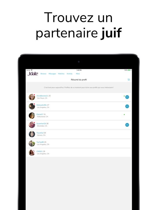 site de rencontre juif USA bonnes applications de datation pour BlackBerry