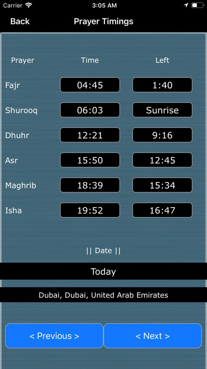 Qibla Finder : Prayer Timings
