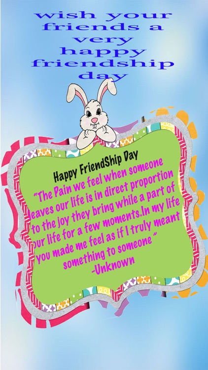 Friendship Day Card And Quotes Wishes