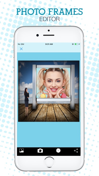 Photo Frames Editor - Virtual Glam Up Studio Screenshot on iOS