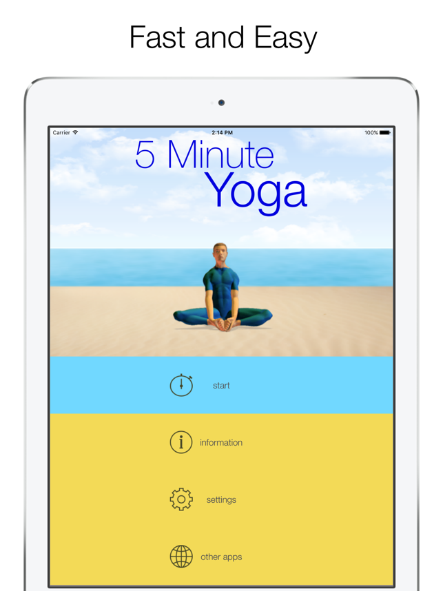 5 Minute Yoga Workouts Screenshot